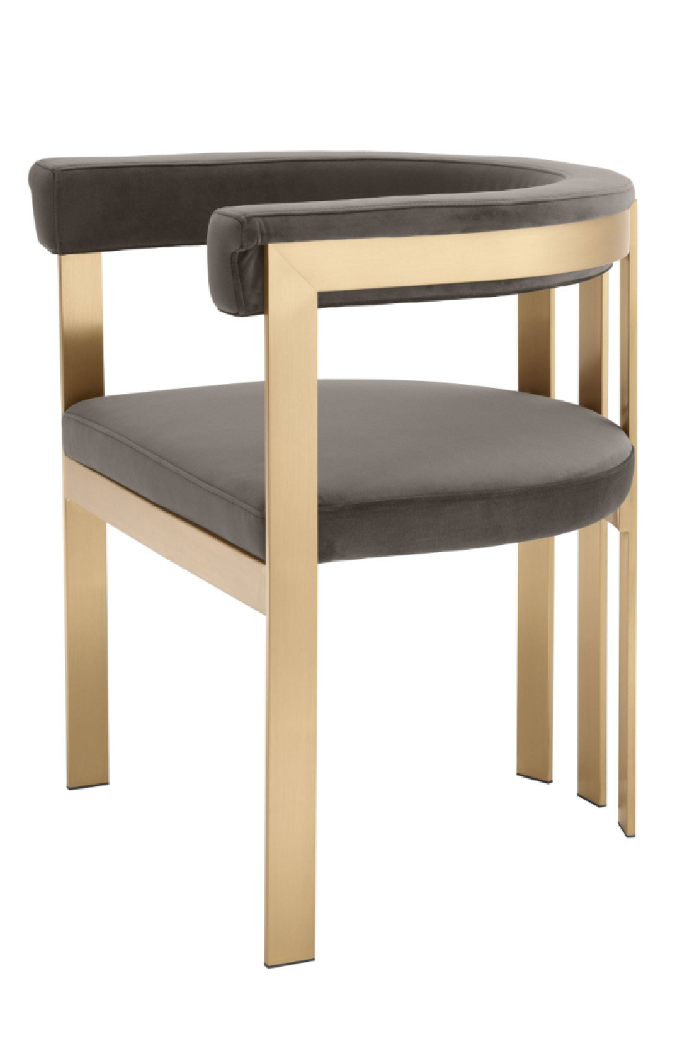 Modern Brass Barrel Dining Chair | Eichholtz Clubhouse