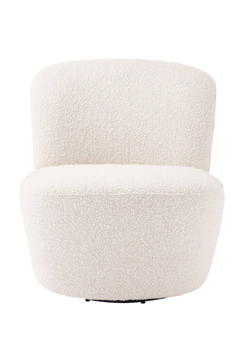 White Domed Back Swivel Chair | Eichholz Doria | OROA Luxury Furniture