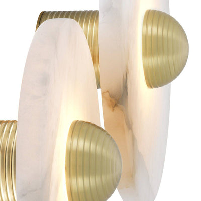 Alabaster Disc Wall Lamp - s | Eichholtz Nomad | OROA - Modern lyxbelysning