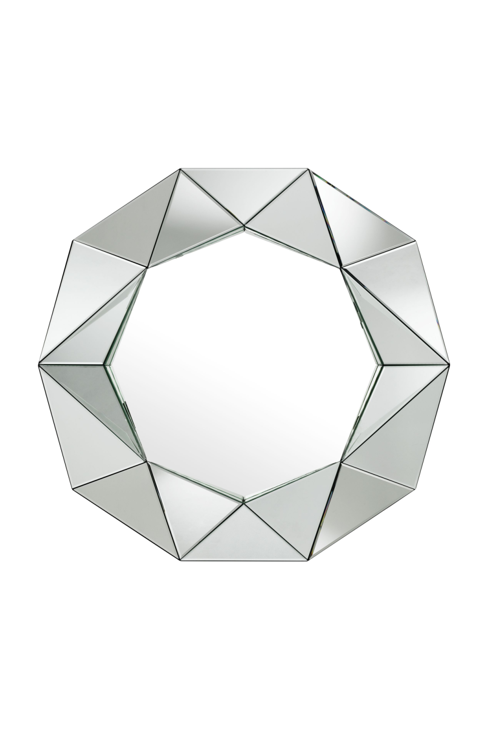 3D Faceted Triangles Mirror | Eichholtz Del Ray