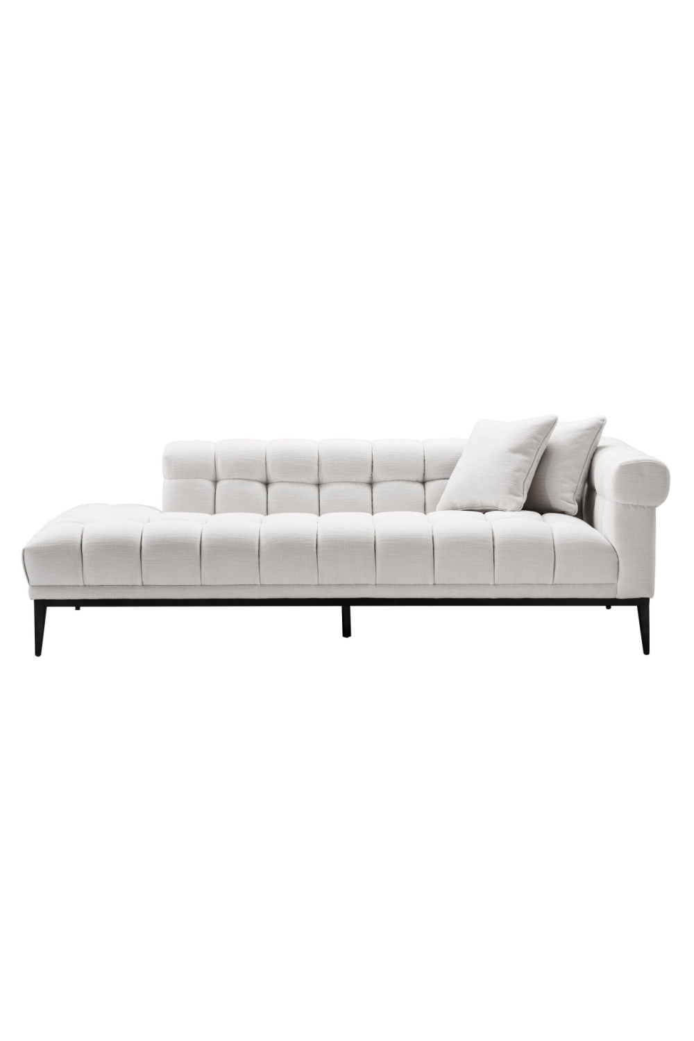 White Biscuit-Tufted Lounge Sofa | Eichholtz Aurelio - R