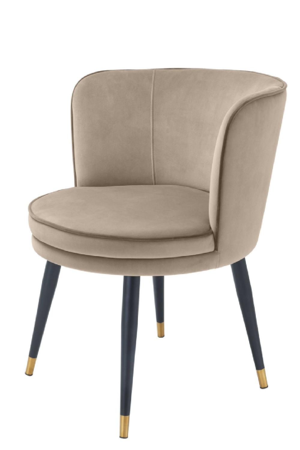 Greige Velvet Dining Chair | Eichholtz Grenada | OROA Luxury Furniture