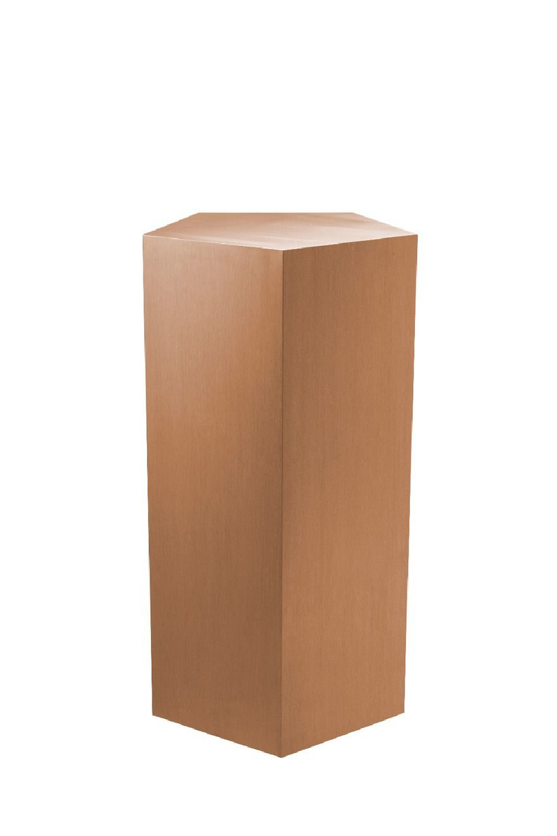 Brushed Copper Pedestal Column - S | Eichholtz Meissner | OROA Decor