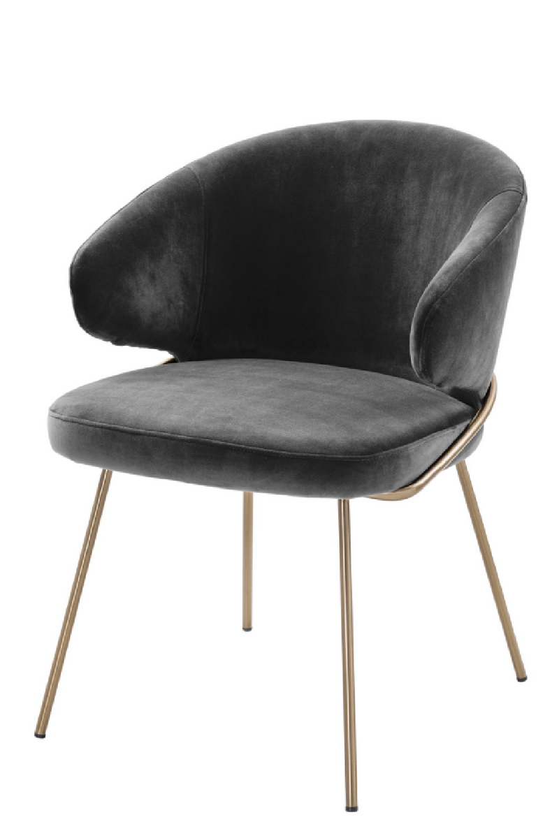 Gray Velvet Dining Chair | Eichholtz Kinley