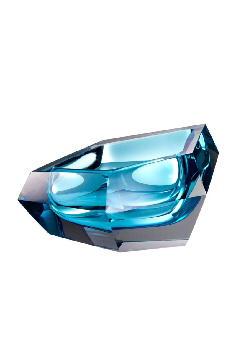 Blue Crystal Bowl | Eichholtz Alma | OROA - Luxury Decor