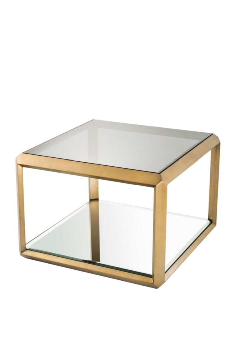 Brass Glass Box Side Table | Eichholtz Callum