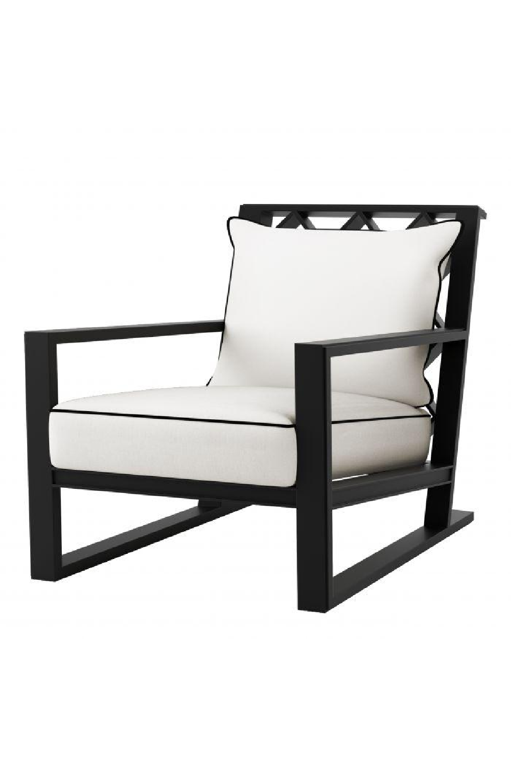 Black Outdoor Sunbrella Lounge Chair | Eichholtz Como