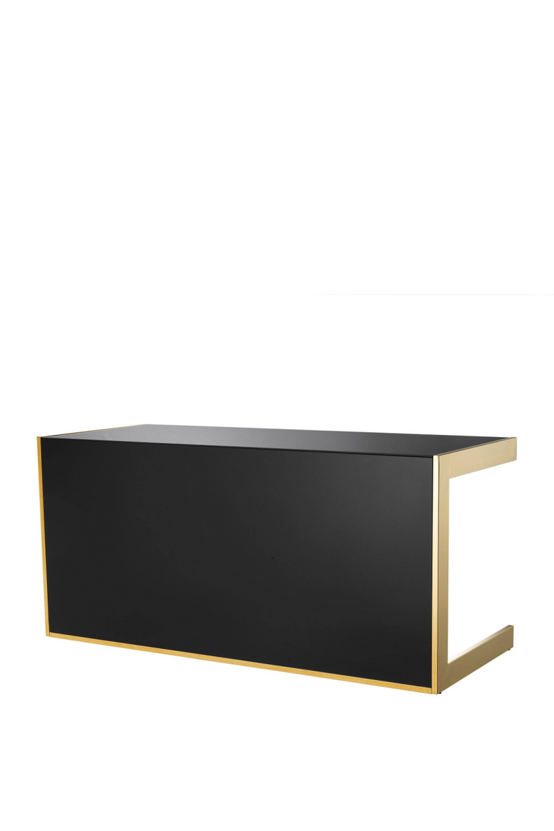 Gold & Black Glass Desk | Eichholtz Cosmo | #1 Eichholtz Retailer
