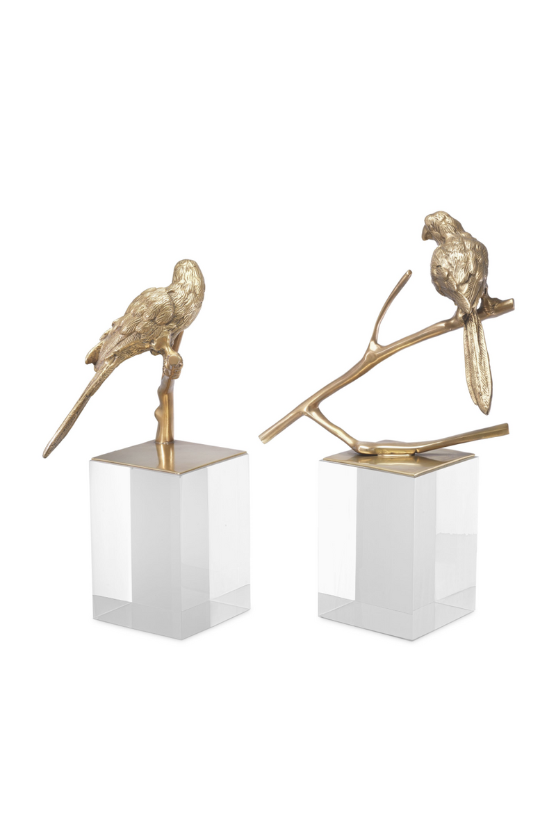 Antique Brass Bird Figurine Set (2) | Eichholtz Morgana | OROA