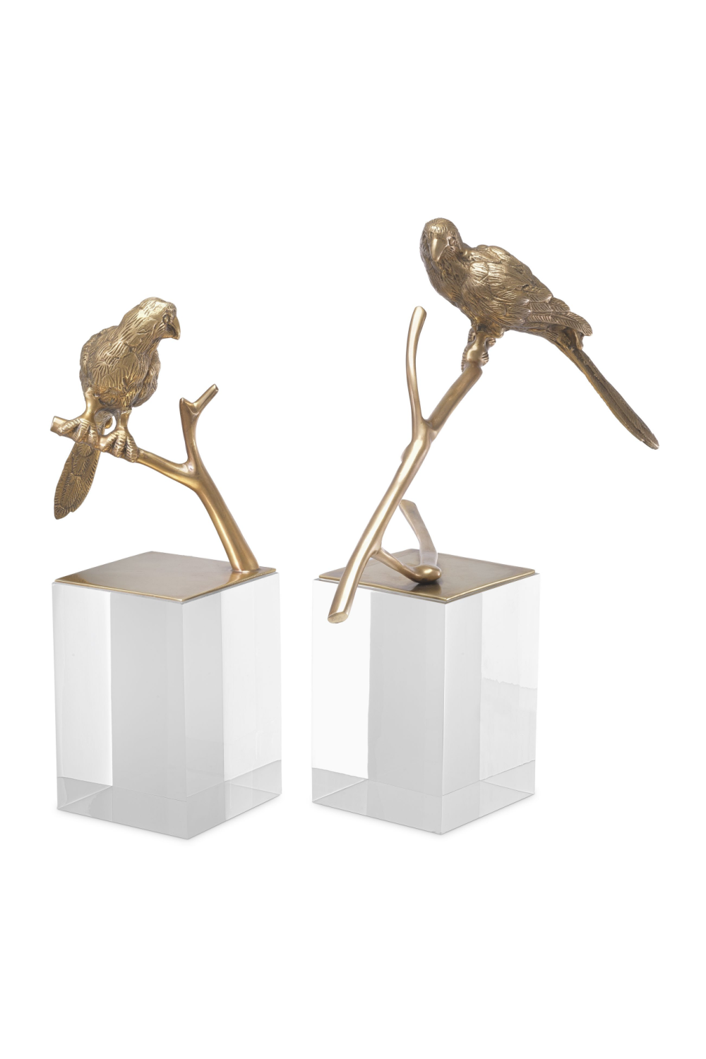Antique Brass Bird Figurine Set (2) | Eichholtz Morgana