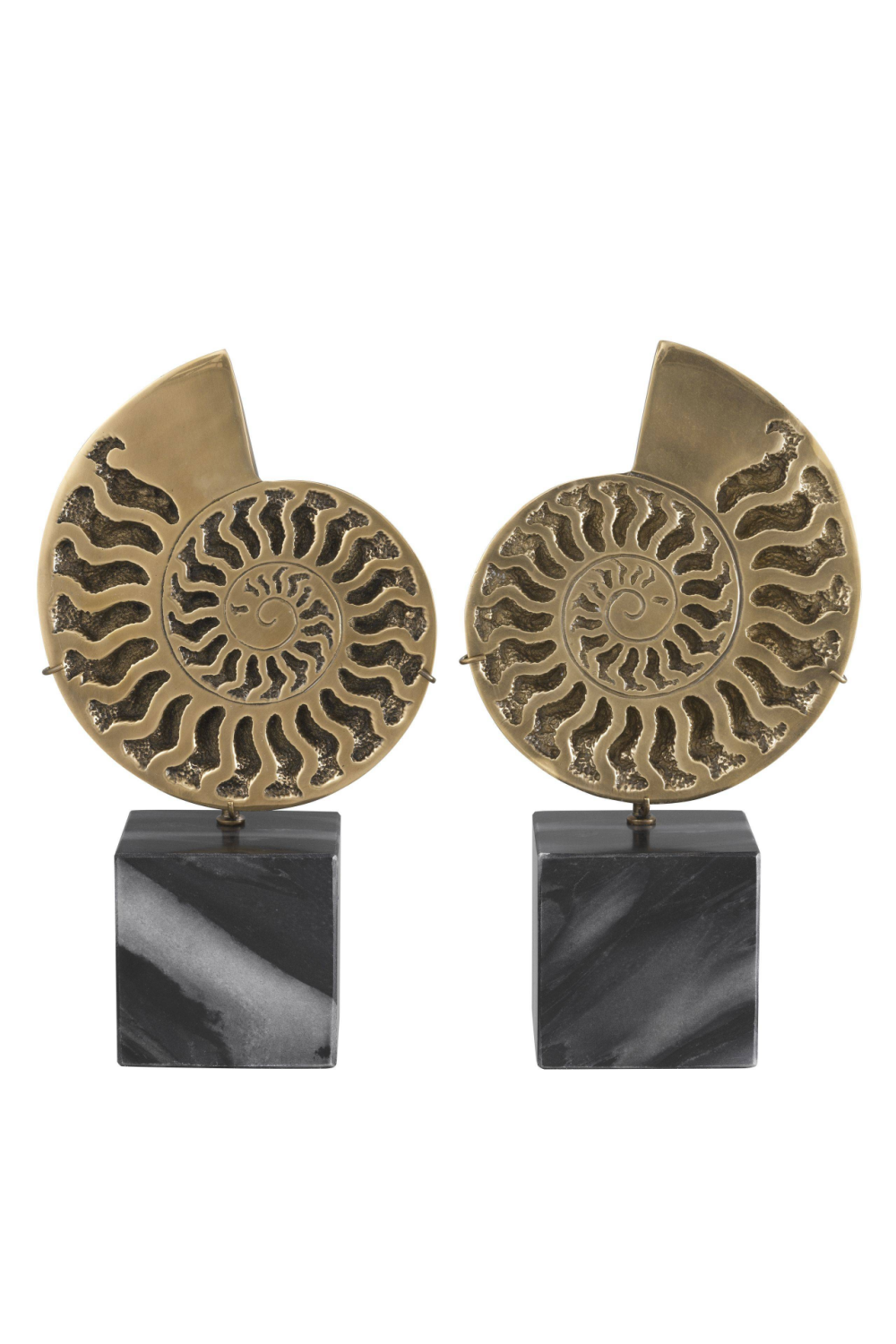 Vintage Brass Object Set of 2  | Eichholtz Ammonite | OROA