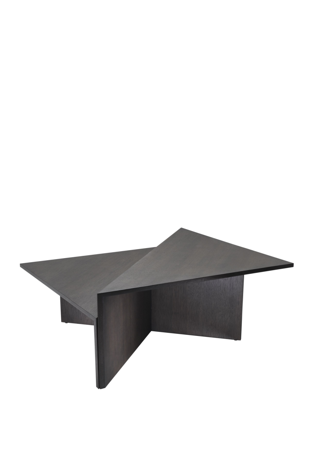 Dark Brown Triangular Coffee Table | Eichholtz Fulham