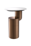 Copper Pedestal Marble Side Table | Eichholtz Tosca | OROA furniture