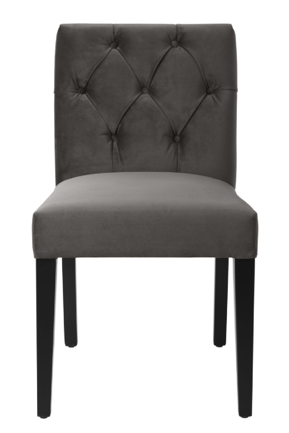 Gray Velvet Dining Chair | Eichholtz Atena