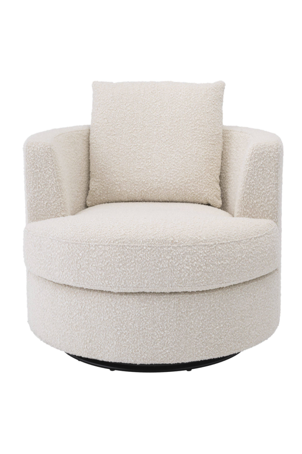 Bouclé Cream Swivel Chair | Eichholtz Felix