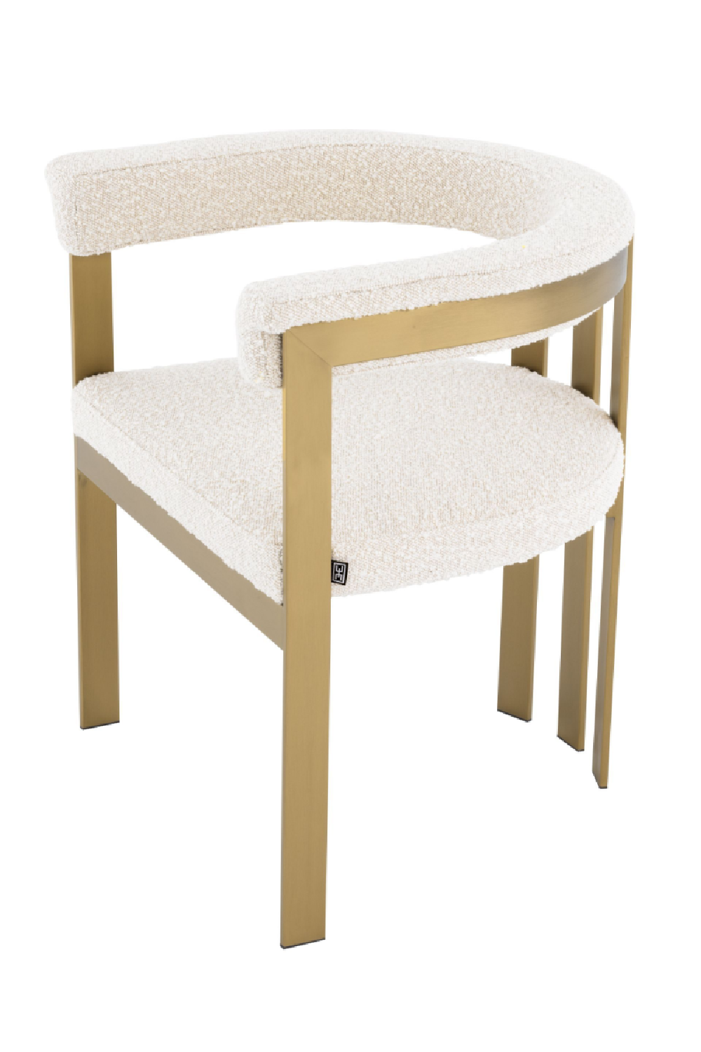 Boucle Cream Barrel Dining Chair | Eichholtz Clubhouse