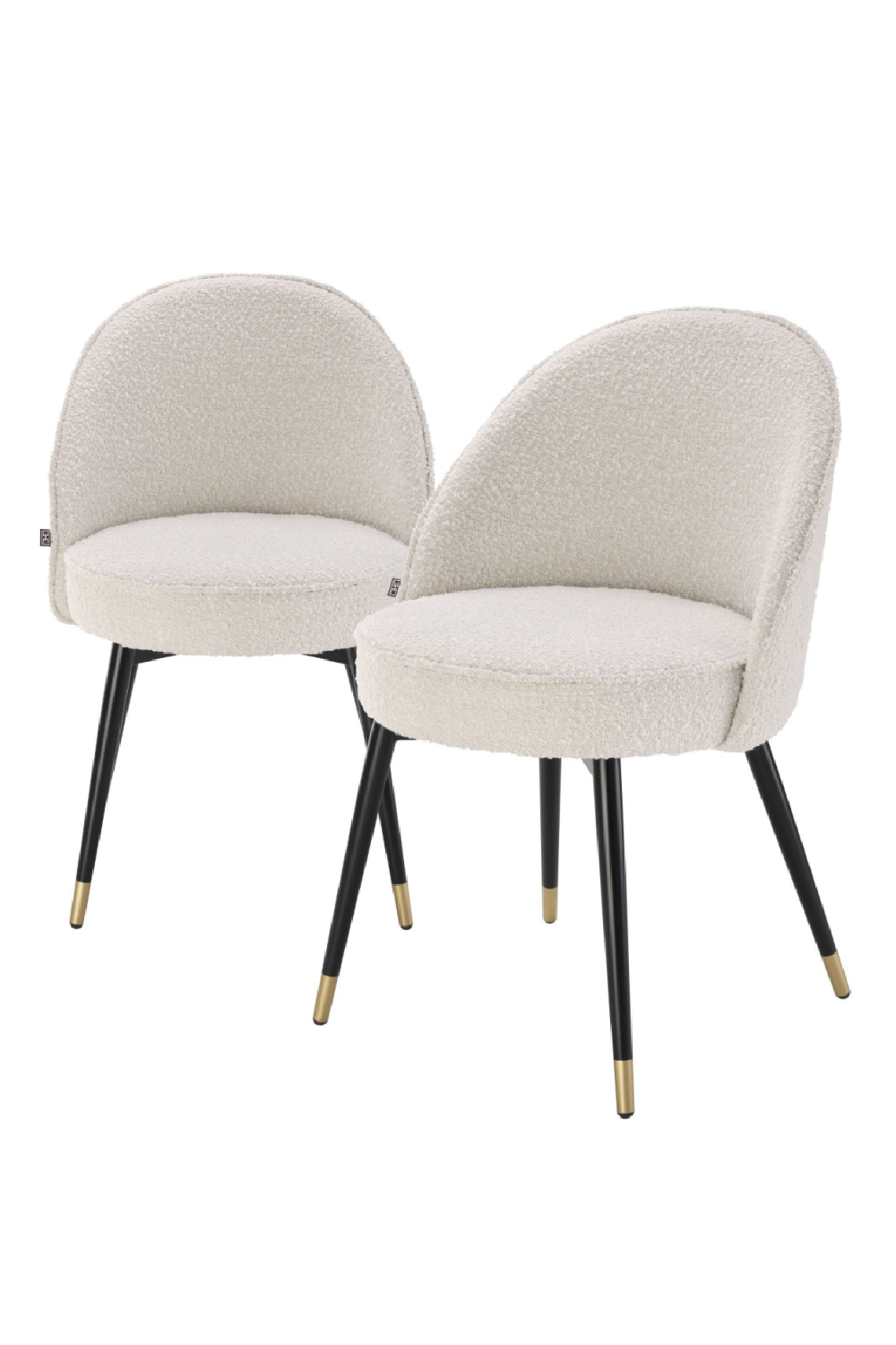 Bouclé Dining Chair Set Of 2 | Eichholtz Cooper | OROA Luxury Furniture