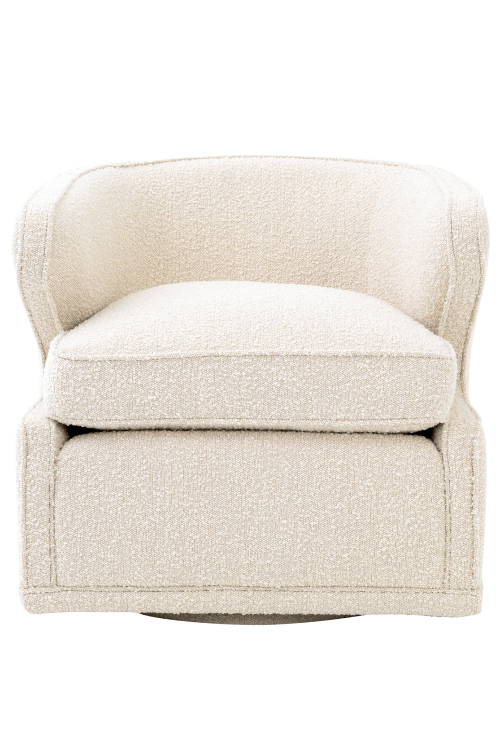 Bouclé Cream Velvet Swivel Chair | Eichholtz Dorset