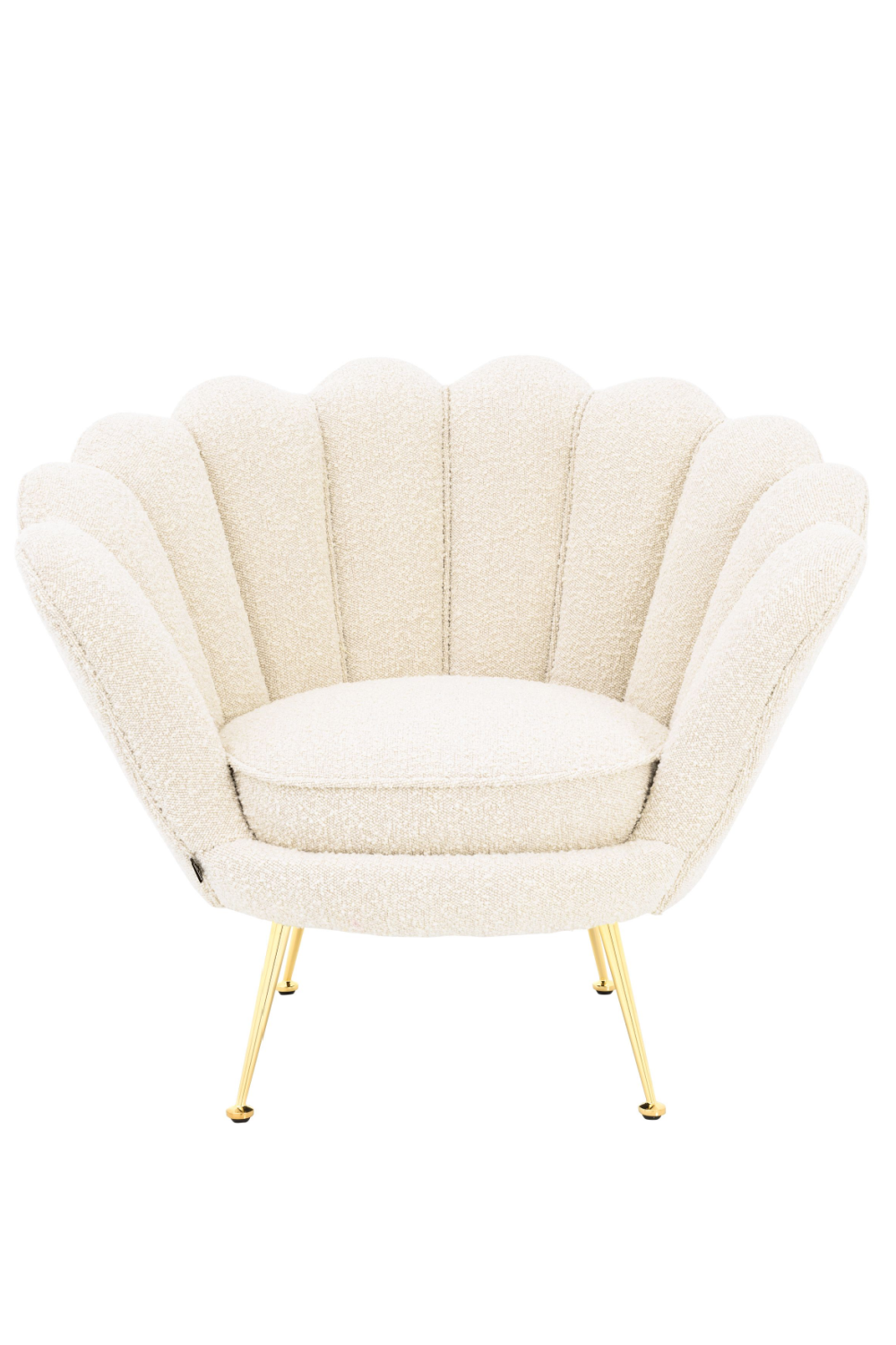 Bouclé Scalloped Accent Chair | Eichholtz Trapezium | OROA Luxury Seat