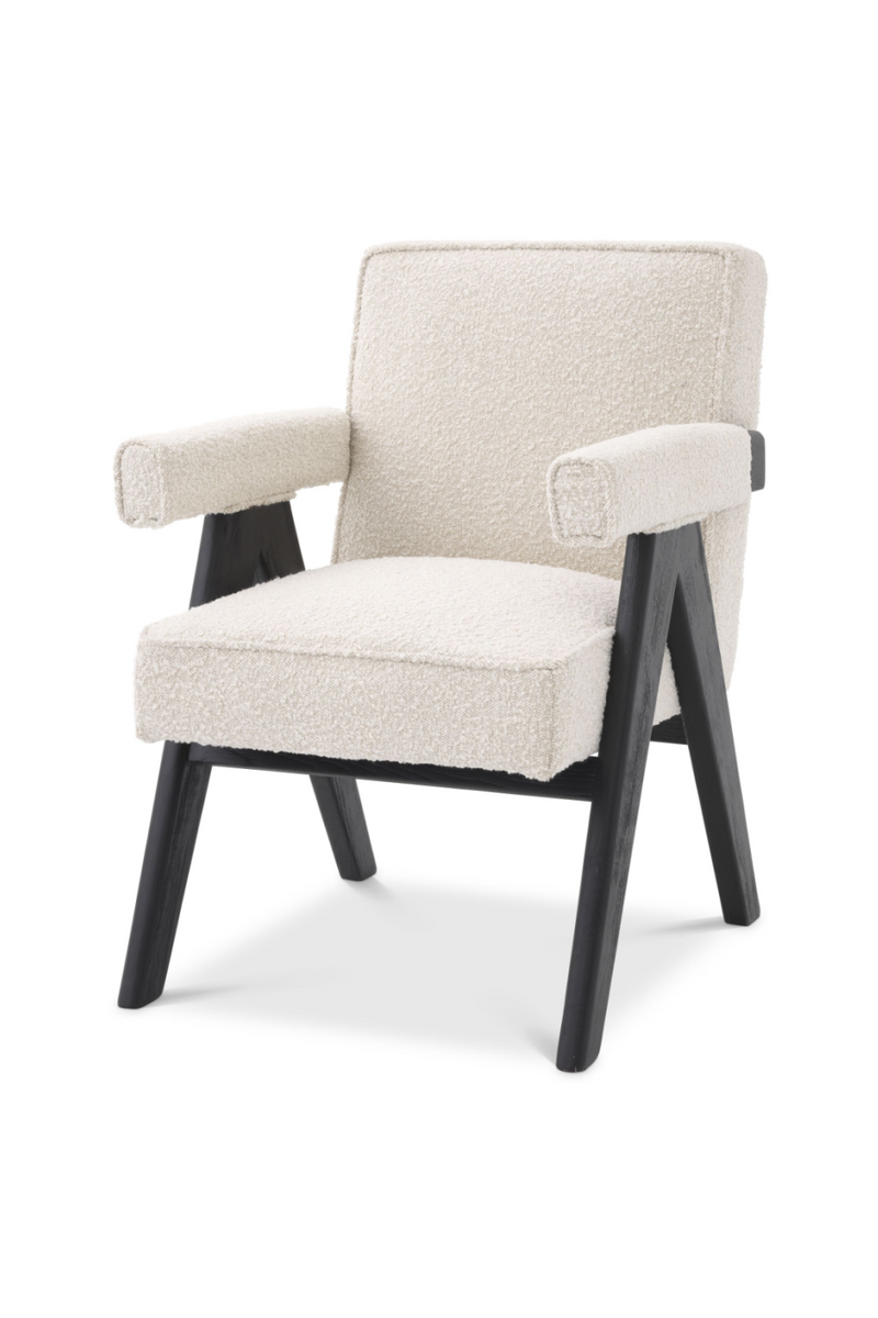 Bouclé Wooden Dining Chair | Eichholtz Greta