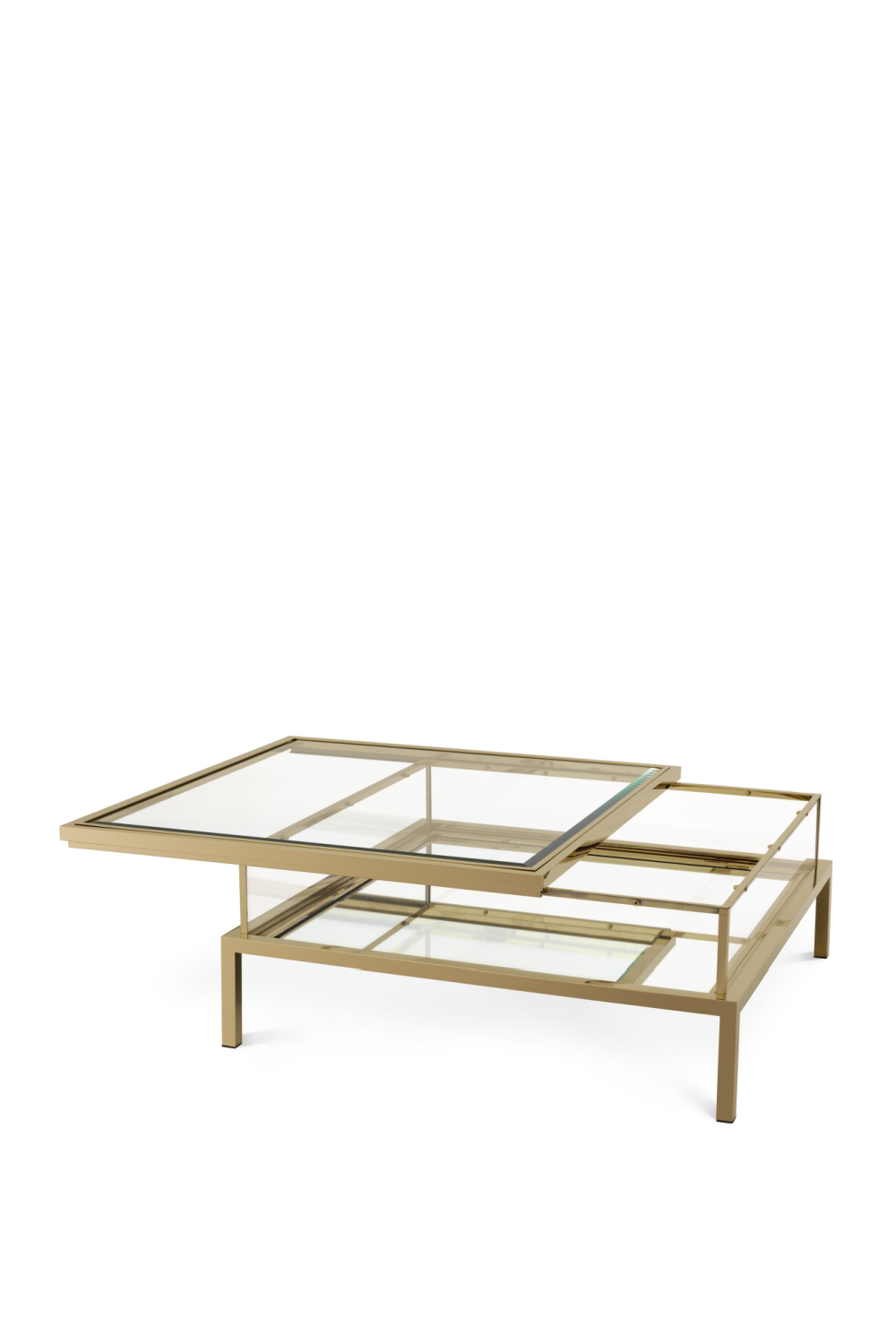 Brushed Brass Square Coffee Table | Eichholtz Harvey | OROA
