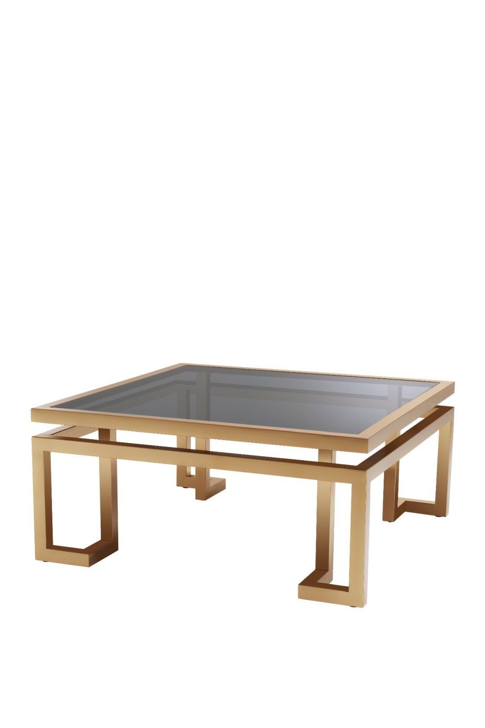 Brushed Brass Square Coffee Table | Eichholtz Palmer | OROA