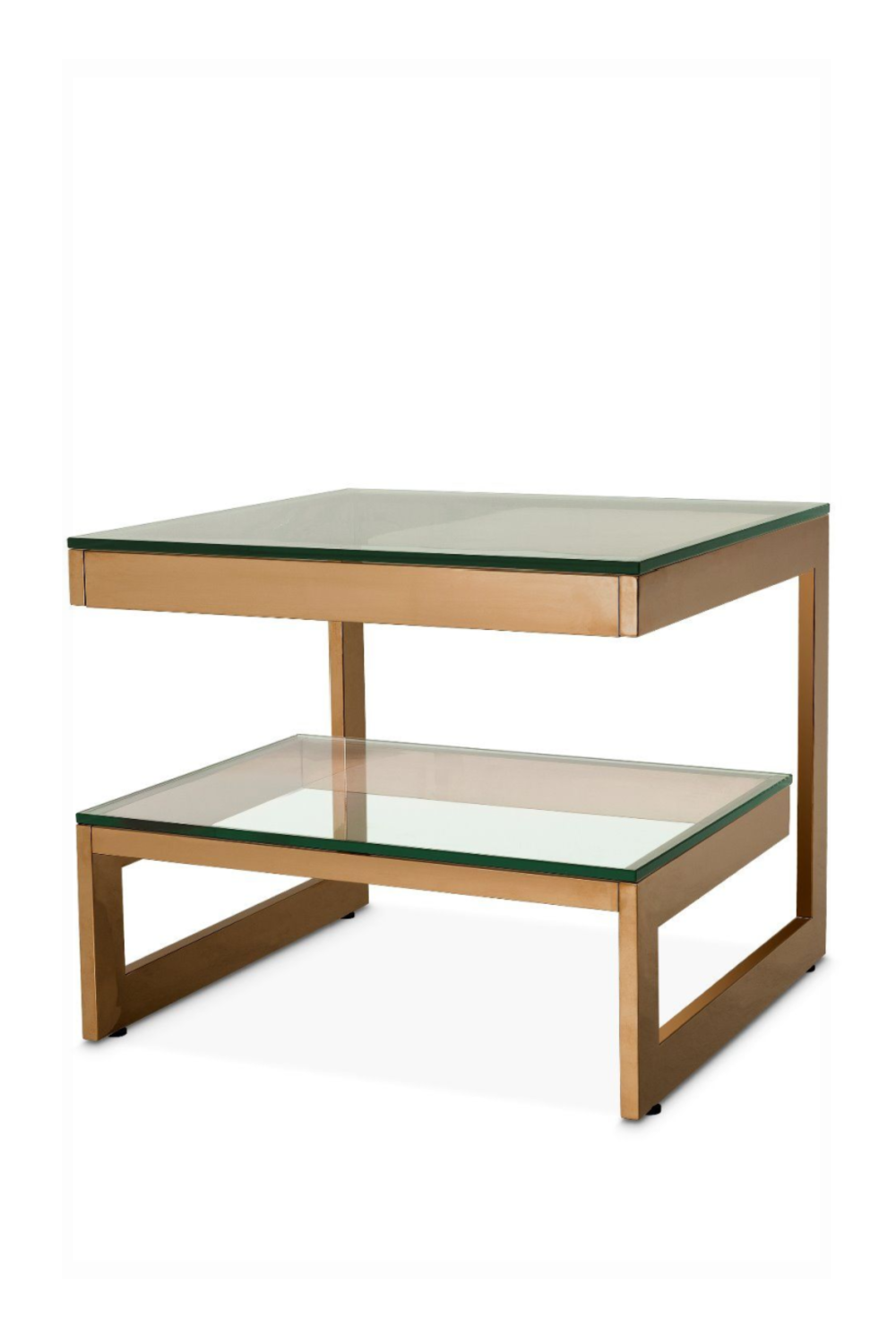 Brushed Brass Square Side Table | Eichholtz Gamma | OROA