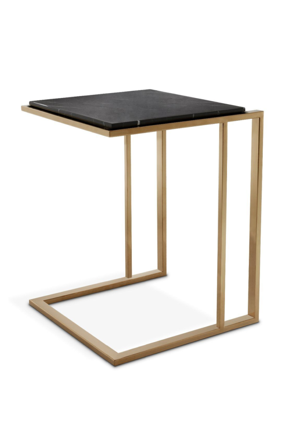 Brushed Brass C-Shaped Side Table | Eichholtz Cocktail | OROA