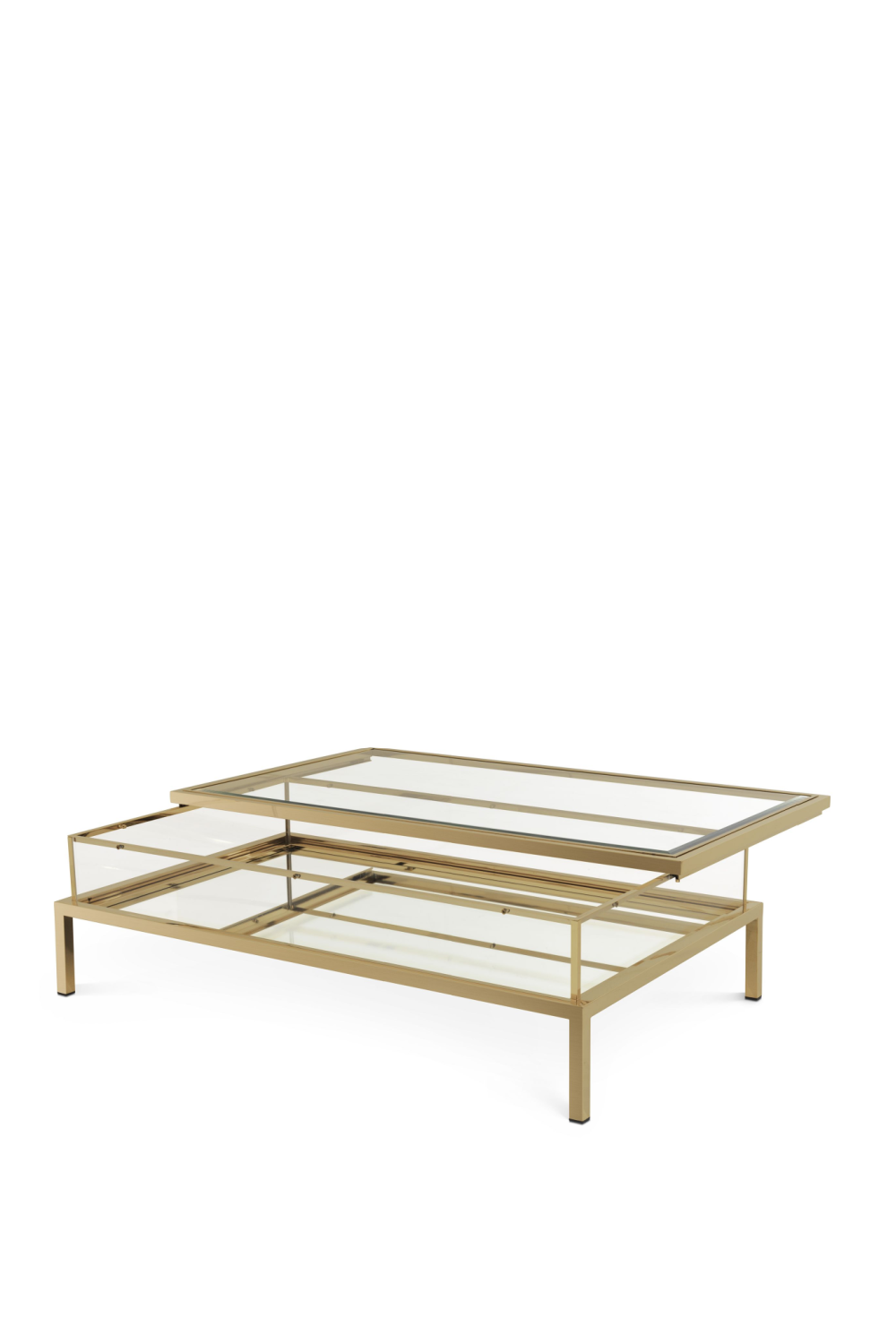 Brushed Brass Sliding-Top Coffee Table | Eichholtz Harvey | OROA