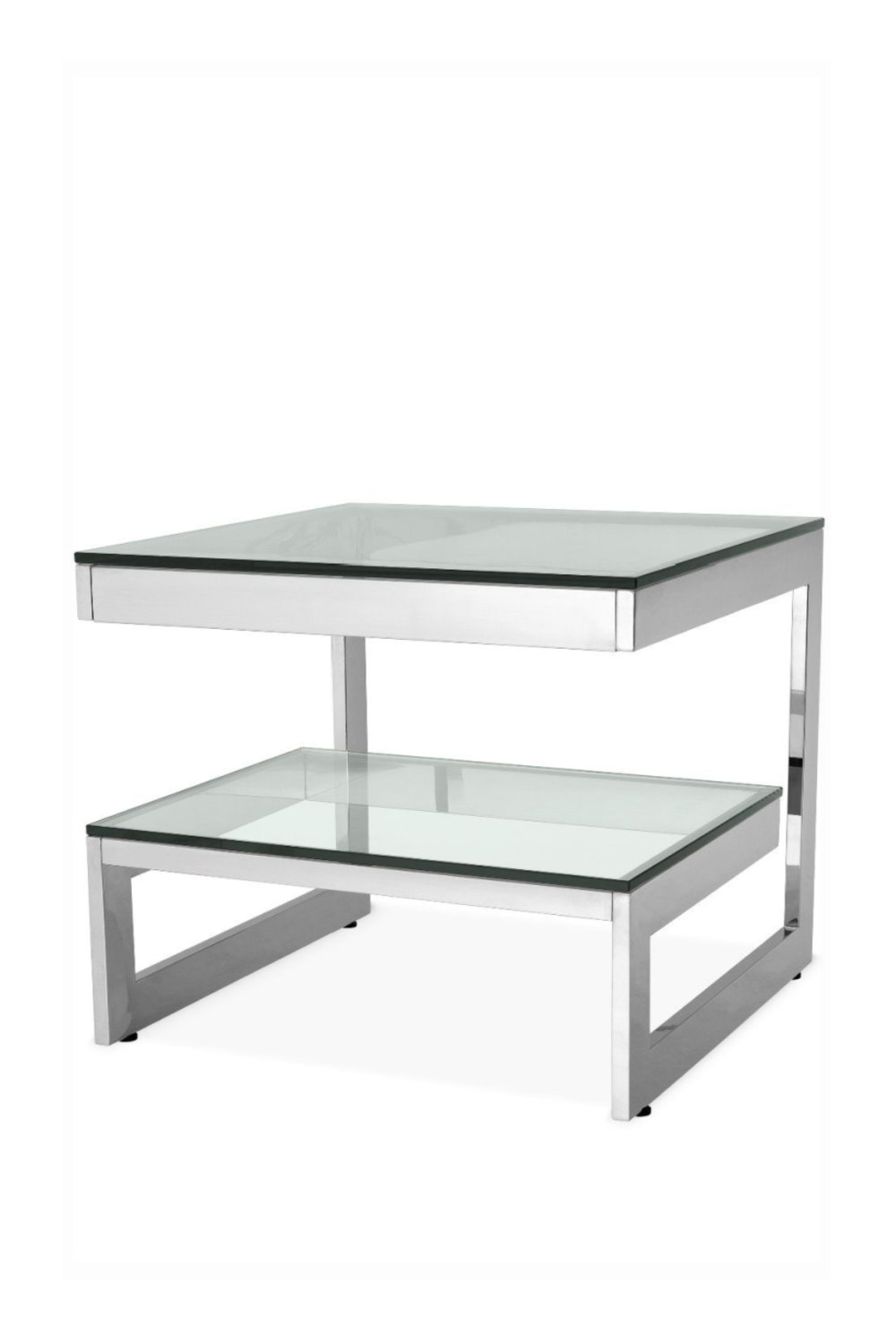 Steel 2-Layered Side Table | Eichholtz Gamma | OROA