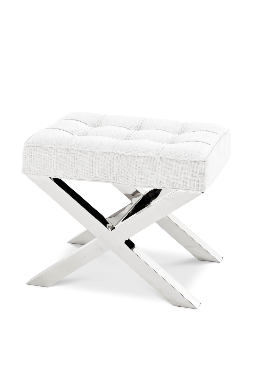 Off White X-Legged Stool | Eichholtz Beekman