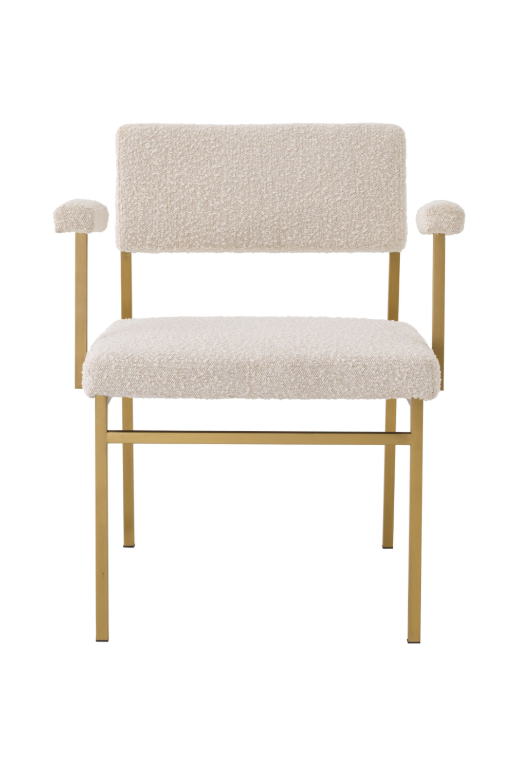 Bouclé Cream Brass Accent Chair - Eichholtz Dunmore