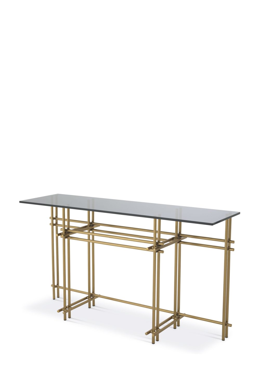 Smoked Glass Brass Console Table | Eichholtz | #1 Eichholtz Retailer