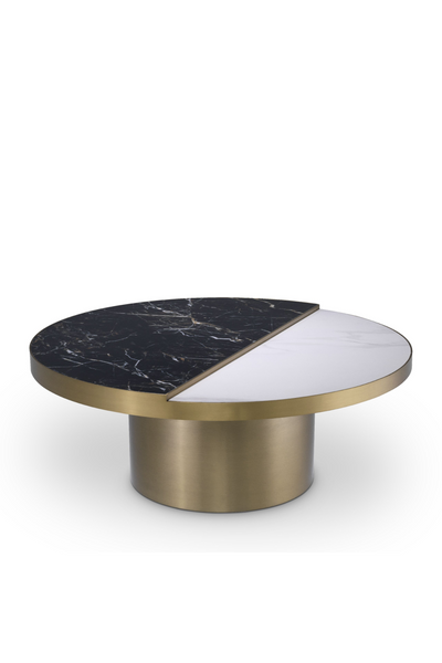 Round Brass Ceramic Coffee Table | Eichholtz Excelsior | #1 Eichholtz Retailer
