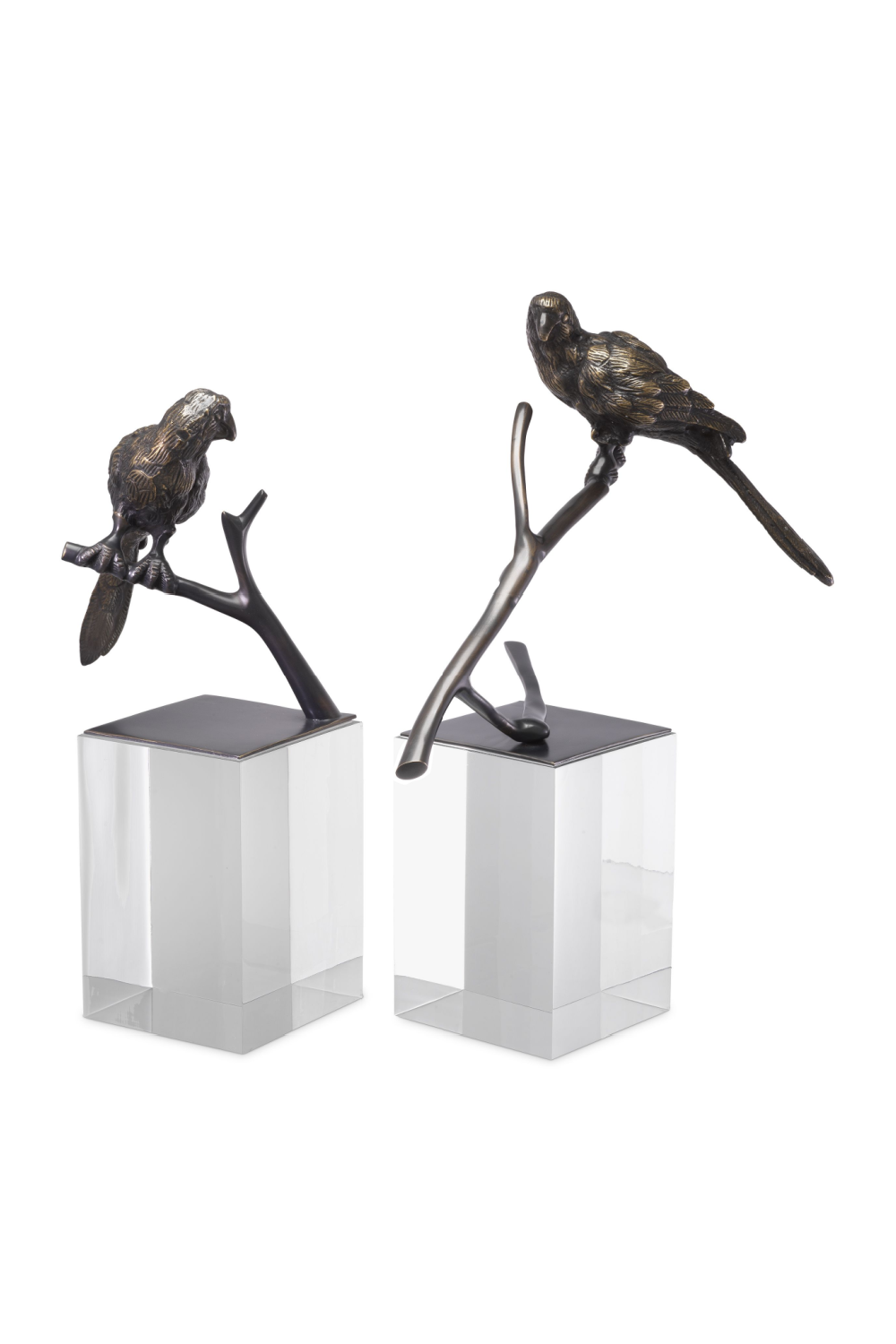 Bronze Bird Figurine Set (2) | Eichholtz Morgana