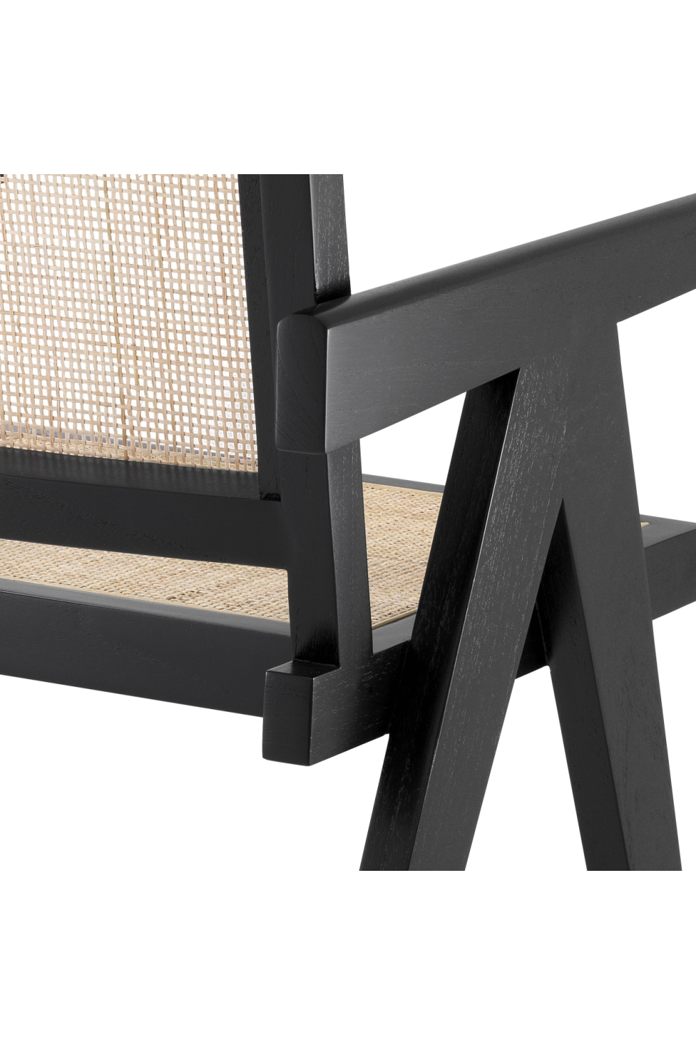 Black Rattan Dining Chair | Eichholtz Aristide | Woodfurniture.com
