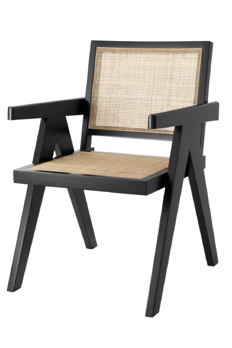 Black Rattan Dining Chair | Eichholtz Aristide