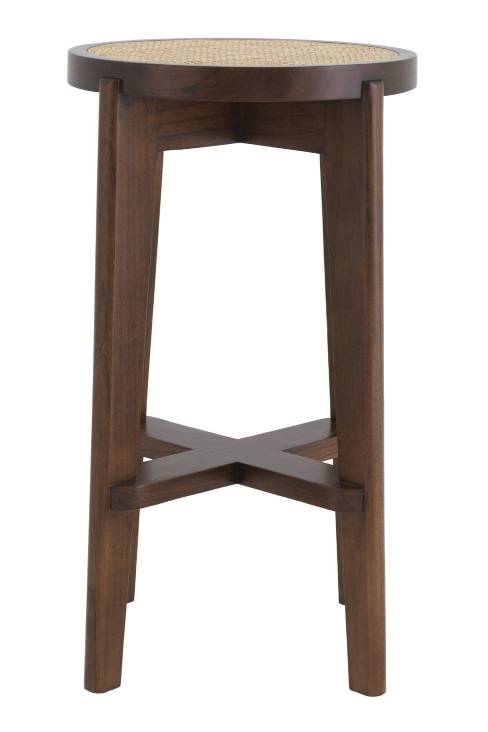 Brown Rattan Bar Stool | Eichholtz Dareau