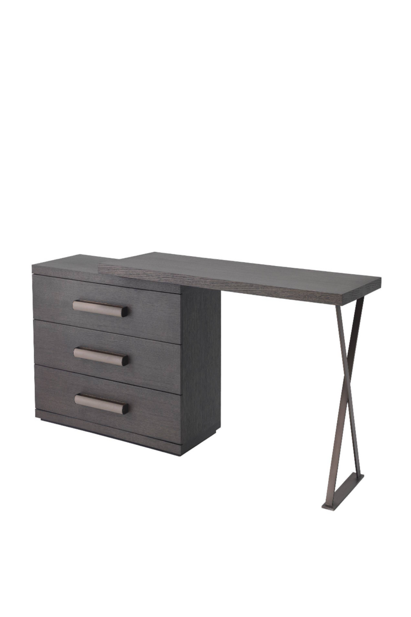 3 Drawer Oak Desk | Eichholtz Sanderson