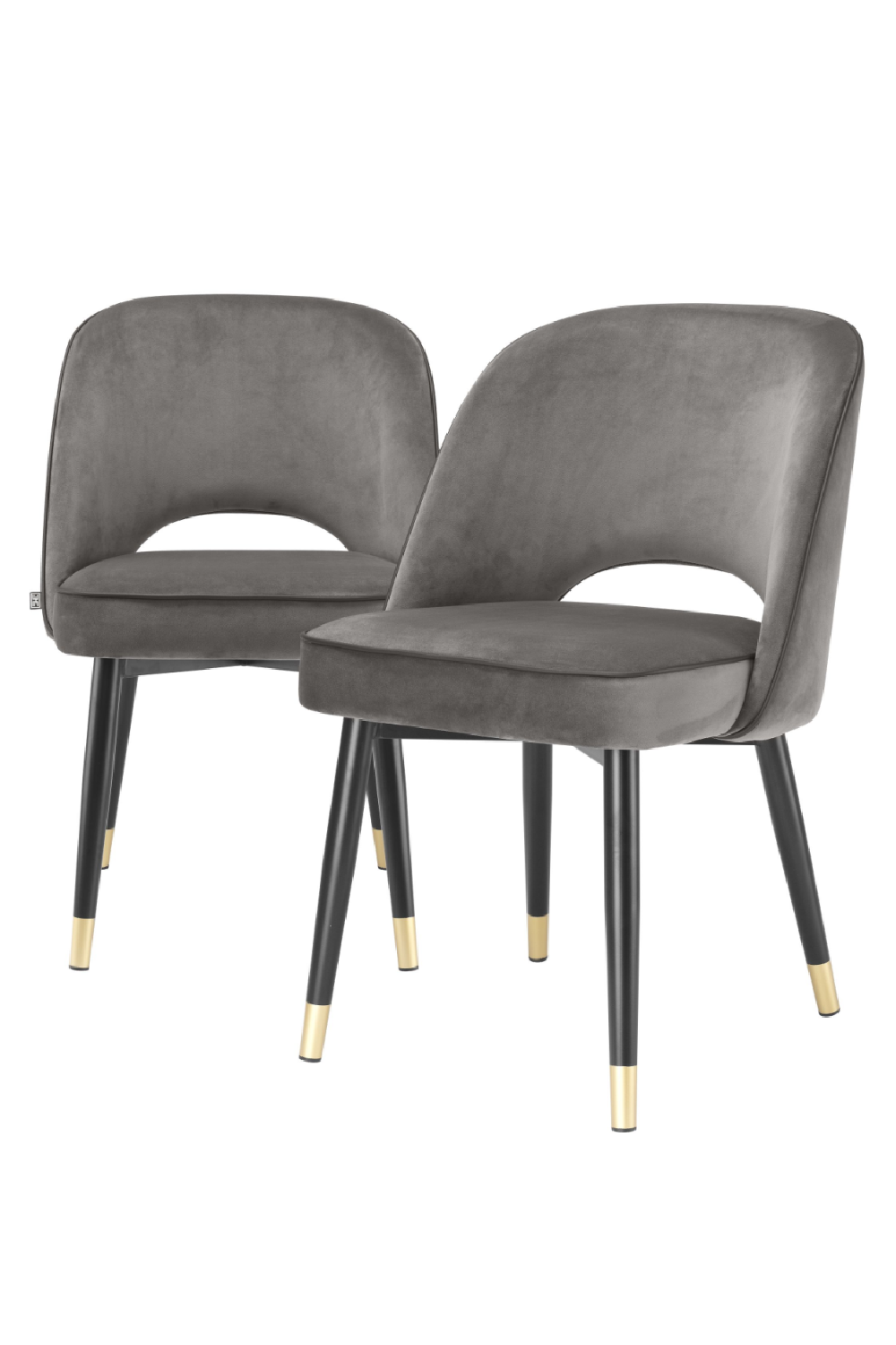 Gray Velvet Dining Chair Set Of 2 | Eichholtz Cliff