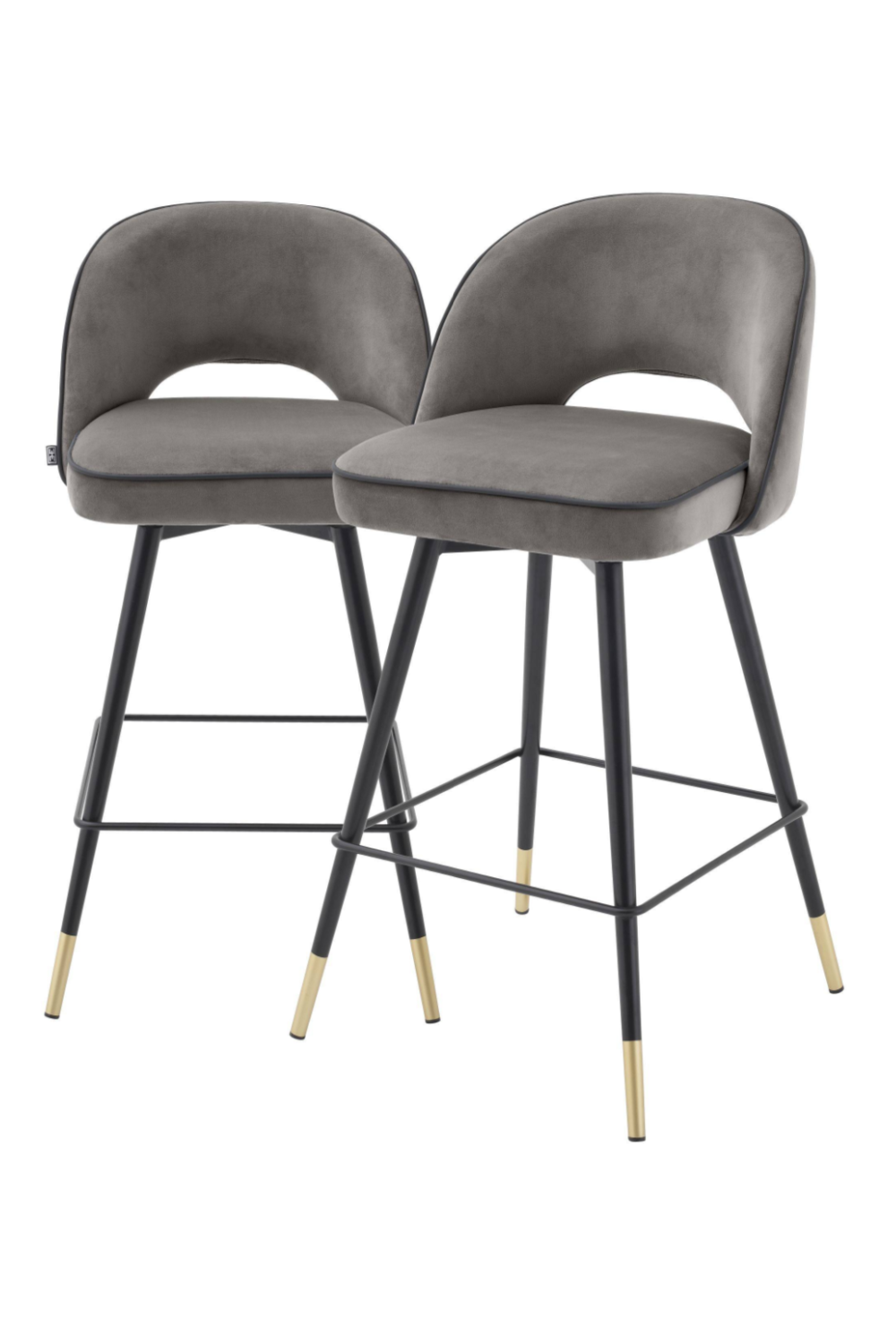 Gray Swivel Counter Stool Set of 2 | Eichholtz Cliff