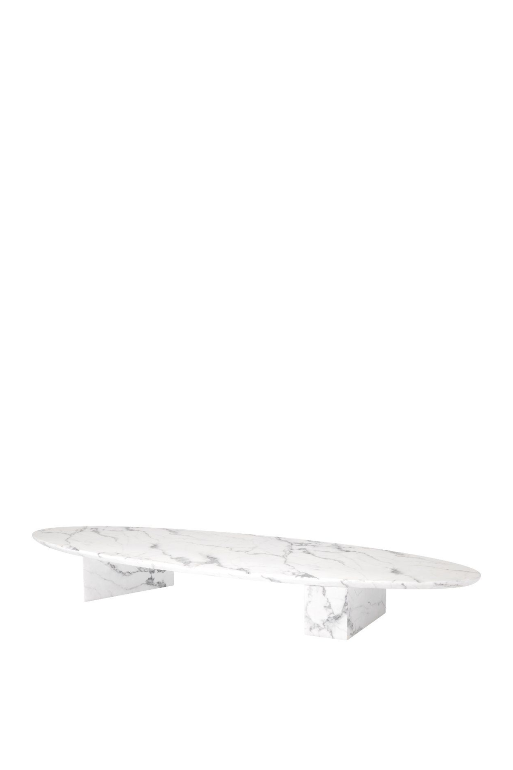 White Marble Oval Coffee Table | Eichholtz Aurore