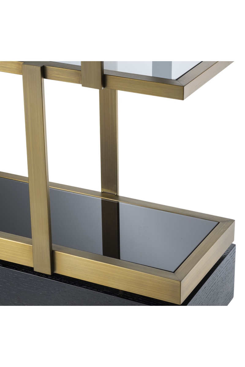 Brass 6-Shelf Bookcase | Eichholtz Nesto | Woodfurniture.com