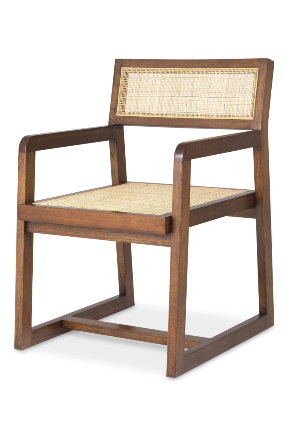 Brown Rattan Dining Armchair | Eichholtz Dinant | Woodfurniture.com