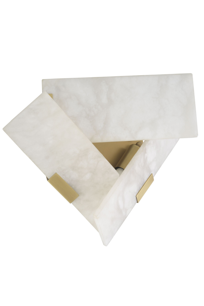 Alabaster Triangular Wall Lamp | Eichholtz Bella Bianco | OROA