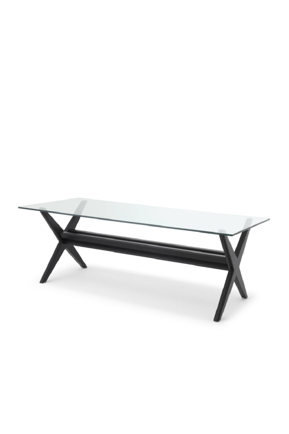 Black X-Shaped Legs Dining Table | Eichholtz Maynor