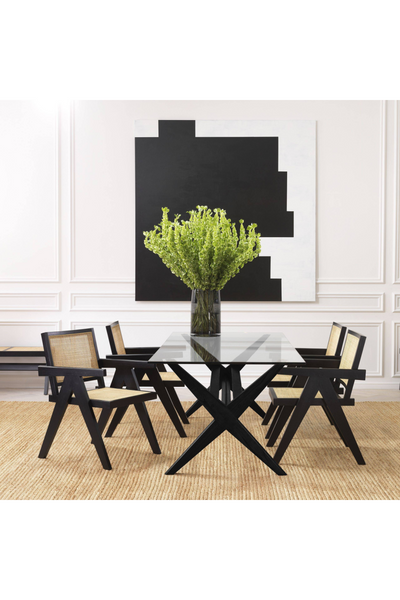 Black X-Shaped Legs Dining Table | Eichholtz | #1 Eichholtz Retailer