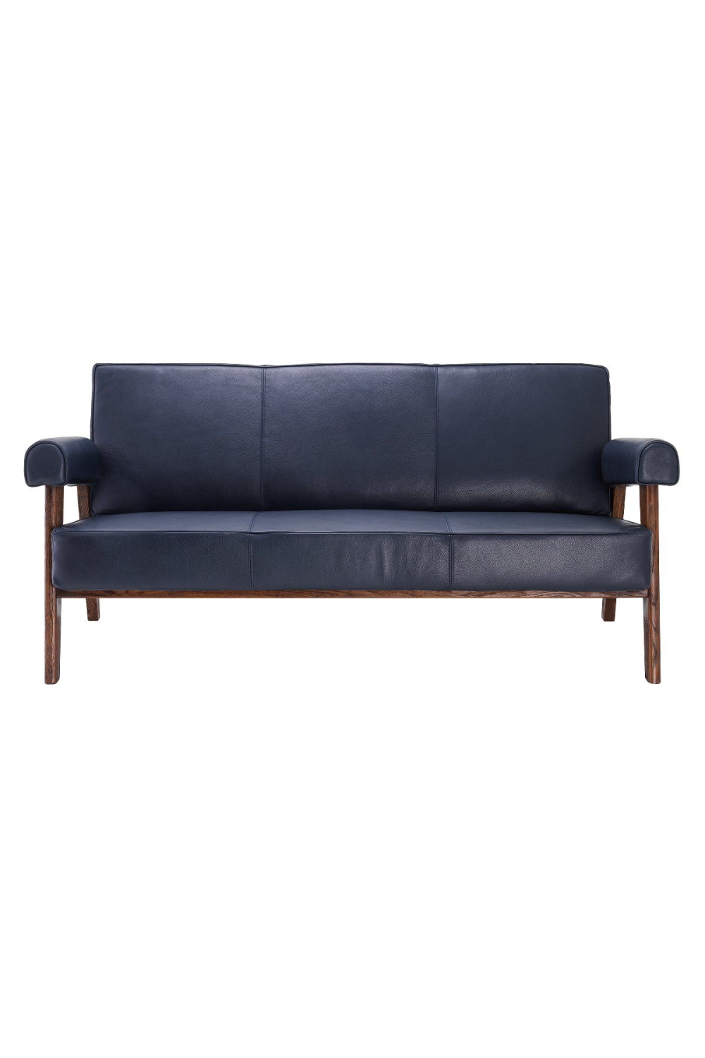 Blue Leather Wooden Sofa | Eichholtz Milo | #1 Eichholtz Retailer