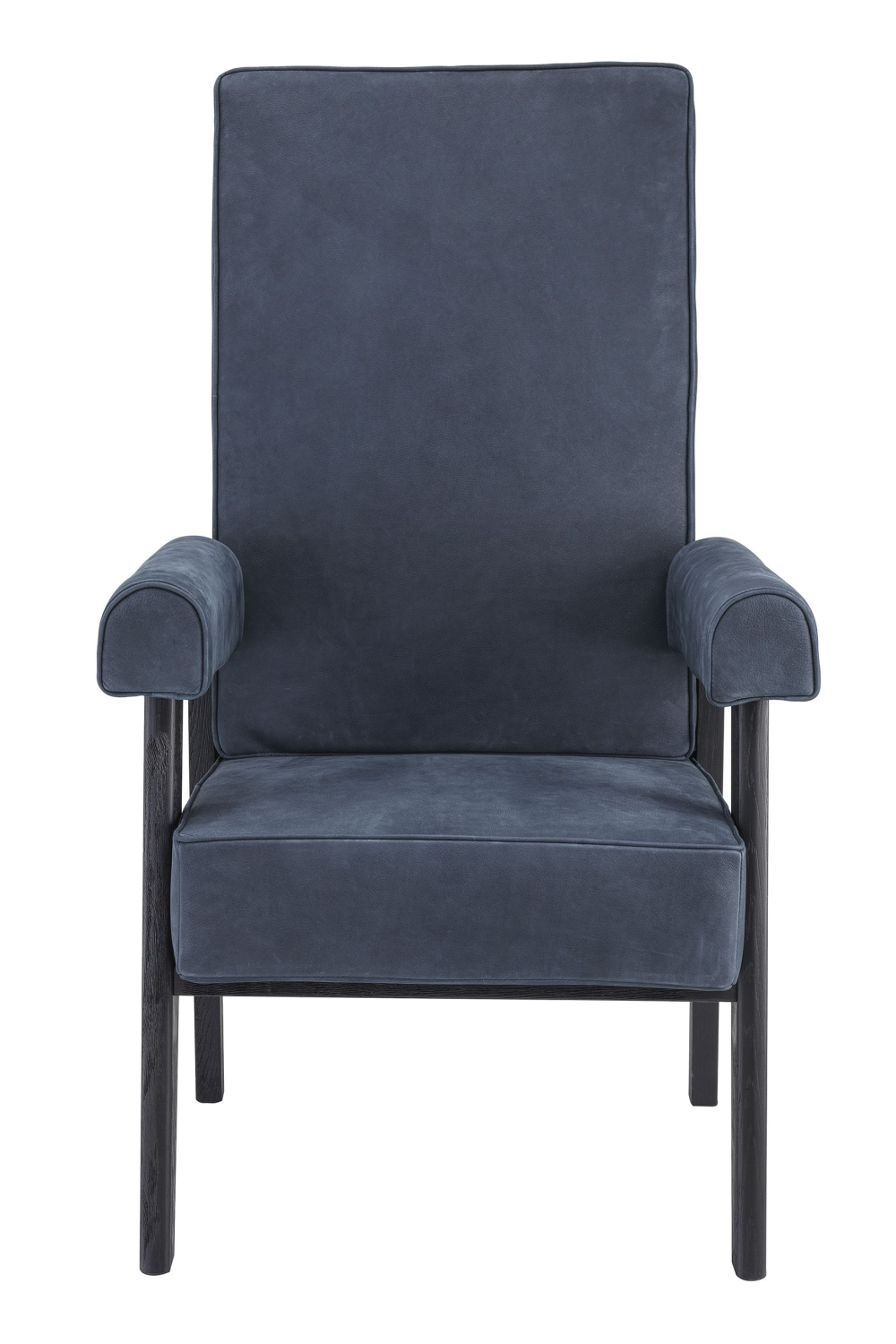Blue Leather High-Back Chair | Eichholtz Milo | Woodfurniture.com