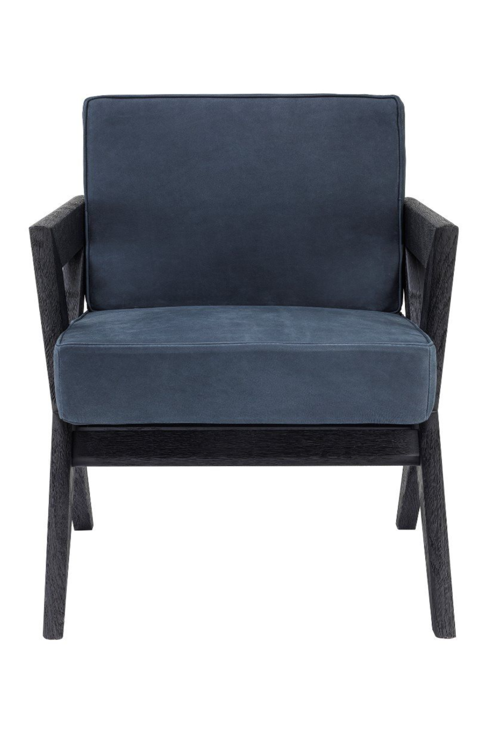 Blue X-Leg Wooden Dining Armchair | Eichholtz Felippe | Woodfurniture.com